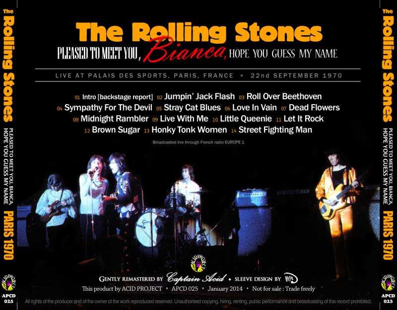 The Rolling Stones - Palais Des Sports, Paris, France